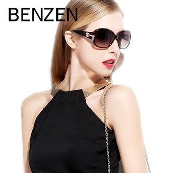 Sunglasses Women Polarized Elegant Rhinestone Ladies Sun Glasses Female Sunglasses Oculos De Sol BENZEN Shades With Case