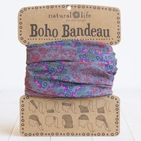 Gray,  Red  &  Blue  Boho  Bandeau  From  Natural  Life