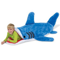 The Shark Bait Sleeping Bag - Hammacher Schlemmer