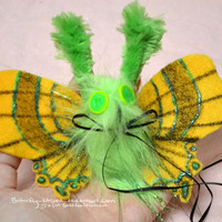 HOLIDAY SALE Moth Hair Clip Barrette Glow in the Dark