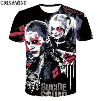 New fashion Suicide squad t shirt men/women Harley Quinn joker 3d printed t-shirts casual Harajuku style tshirt streetwear tops