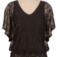 Flutter Sleeve Lace Top