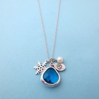 Frozen, Necklace, Disney, Necklace, Ice, Glass, Personalized, Necklace