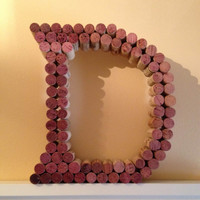 "8"" or 12"" Wine Cork Letter D"