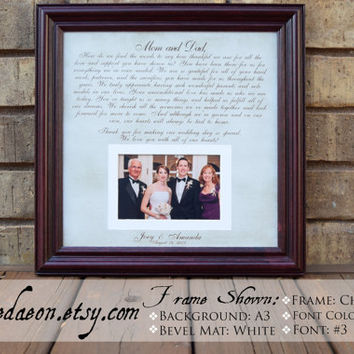 Parents Gift, Thank You Wedding Parents Gifts,  Grooms Parents, Bride Parents, Wedding Thank You Gift, Mother of the Bride, Mother of Groom