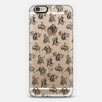 Sketched Bees Black iPhone 6s case by Lauren Victoria Reeves | Casetify
