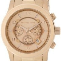 Michael Kors MK8096 Men's Runway Rose Gold-Tone Stainless Steel Watch