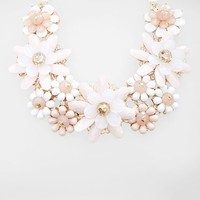Women's Natasha Couture 'Showers of Flowers' Collar Necklace
