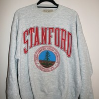 BeWorn — Vintage Grey University of Stanford Cardinal College Jumper
