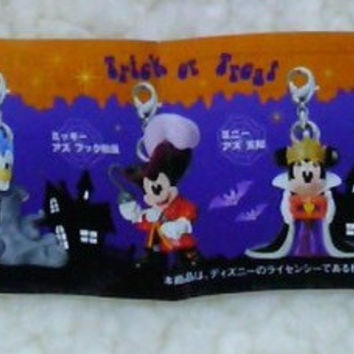 Yujin Disney Characters Capsule World Gashapon Halloween 6 Strap Mascot Figure Set