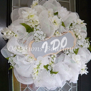 Good Wedding Wreath, Wedding Decoration, Bridal Shower Decoration, En