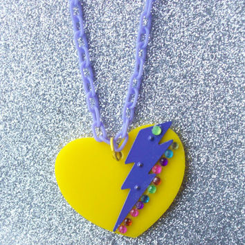Stricken Heart Necklace