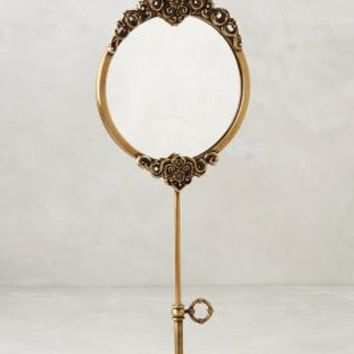 Brass Adalie Vanity Mirror by Anthropologie in Antique Brass Size: One Size Wall Decor