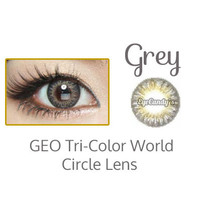 GEO Tri Color World Grey Colored Contacts - Circle Lens - Cosmetic Contact Lenses | EyeCandy's