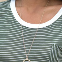 Gold Horn Necklace | Monday Dress