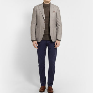 Canali - Kei Unstructured Wool and Cotton-Blend Blazer | MR PORTER