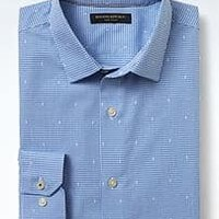 Grant-Fit Non-Iron Dobby Micro Print Shirt | Banana Republic
