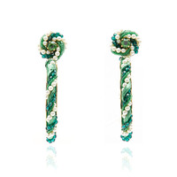 Riri Green Earrings | Moda Operandi