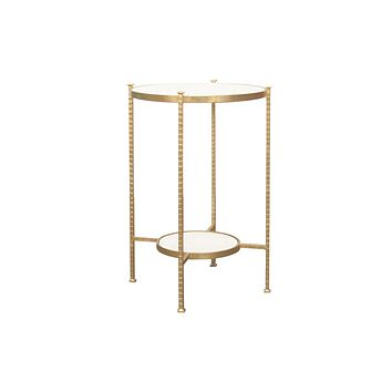 Worlds Away Cory Two Tier Gold Iron Table