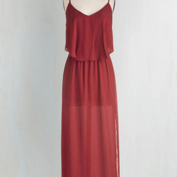 Long Spaghetti Straps Maxi Don't Worry, Be Sassy Dress by ModCloth