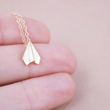 Paper Airplane Necklaces