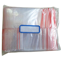 IMC hot 100Pcs Ziplock Lock Zipped Poly Clear Bags Plastic Zip 5*7CM