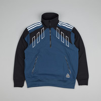 Adidas X Palace Half Zip Top Jacket Rich Blue / Black / Solid Gold