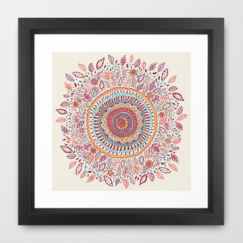 Sunflower Mandala Framed Art Print by Janet Broxon