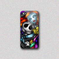Jack Skellington With Sally Figurine Art - Print on Hard Cover for iPhone 4/4s, iPhone 5/5s, iPhone 5c - Choose the option in right side