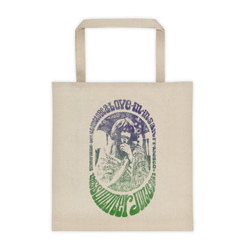 "Psychedelic Hippie ""Love In"" Vintage Poster Tote"