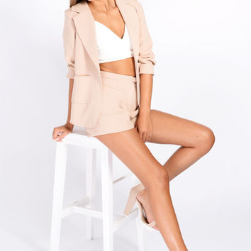 Lois Nude Tailored Shorts & Blazer Co-Ord