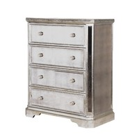 Venetian Mirrored 4 Drawer Chest | Mirrored Bedroom Chest | French Bedroom Furniture