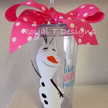 16oz Personalized Frozen Olaf Tumbler