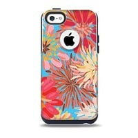 The Brightly Colored Watercolor Flowers Skin for the iPhone 5c OtterBox Commuter Case (Decal Only)