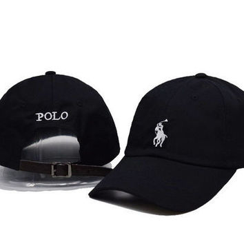 Black Polo Embroidered snapback cap