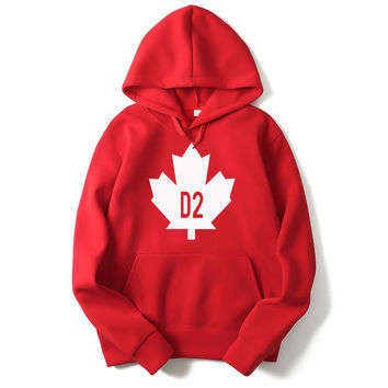 New 2017 Mens Hoodies Vintage Canada D2 Hoodie Sweatshirt Men Hip Hop Hooded Pullover Hombre Clothing