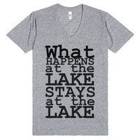 Lake Living-Unisex Athletic Grey T-Shirt