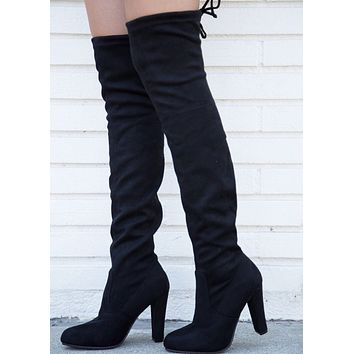 Danielle Over the Knee Boot - Black