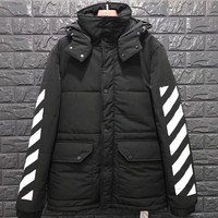 cc kuyou OFF WHITE WINTER JACKET