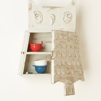 Owl Perch Cabinet by Anthropologie in Light Green Size: One Size Office