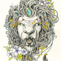 """Lion's Head"" - Art Print by Erica Williams"
