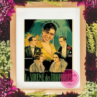 50% Off Sale-Vintage Josephine Baker,Paris Art,Digital Prints,INSTANT DOWNLOAD,Paris Home Art,African American Vintage Art,Vintage Images