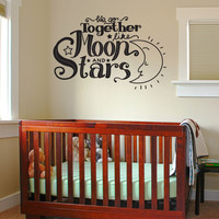 Vinyl Wall Decal Sticker Moon and Stars #OS_DC595