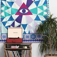 Magical Thinking Mystical Eye Tapestry- Blue One
