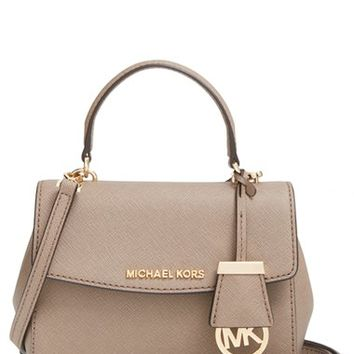 MICHAEL Michael Kors 'Extra Small Ava' Leather Crossbody Bag