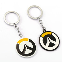 Overwatch Keychain OW Tracer Key Rings For Gift Chaveiro Car Key Chain Jewelry Game Key Holder Souvenir YS11509