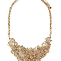 Floral Filigree Cutout Necklace