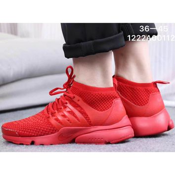 NIKE AIR PRESTO Trend Knit Casual Sneakers F-CSXY red