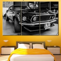 Ford Mustang, Shelby GT500, Eleanor 1967, cars, cars on canvas, Gone in 60 seconds, ford, iron Horse, Printing on canvas, Ford Mustang art