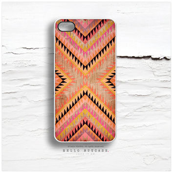 iPhone 6 Case, iPhone 5C Case Wood Print, iPhone 5s Case Chevron, Wood iPhone 4s Case, Geometric iPhone Case, Coral TOUGH iPhone Cover T142